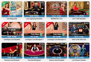Leo Vegas Live Casino Screenshot