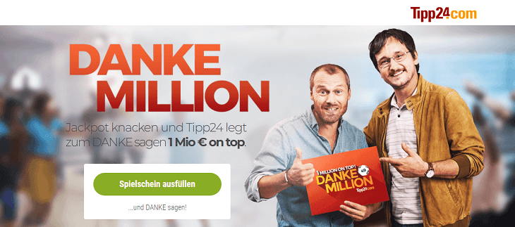 Bild der Tipp24 Danke Million Aktion