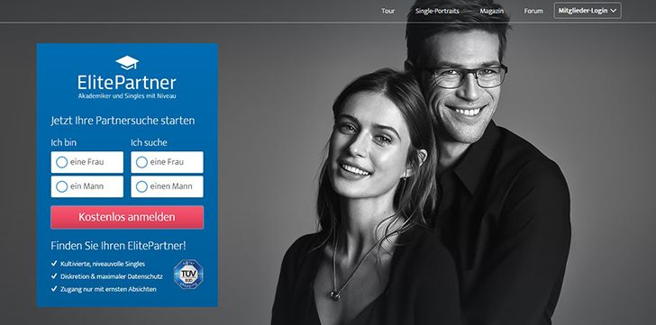Die Plattform ElitePartner