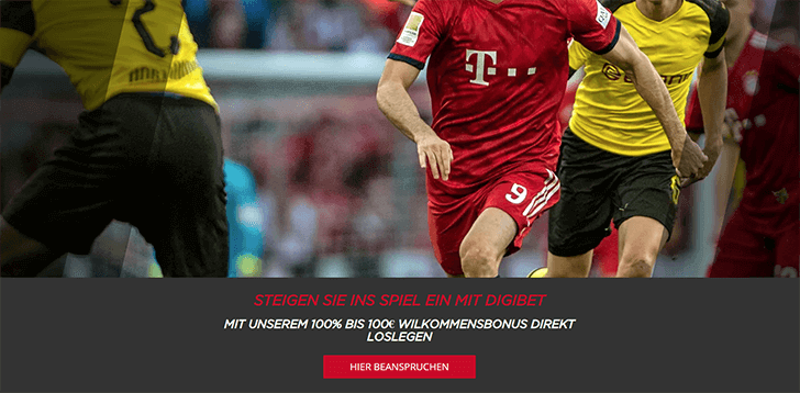 Digibet Bonusangebot Screenshot