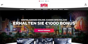 Spin Palace Casino Webseite
