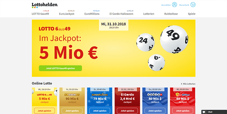Online Lotto Anbieter Lottohelden Plattform