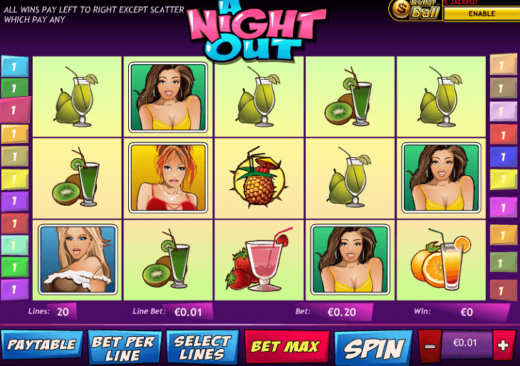 Das A Night out Automatenspiel