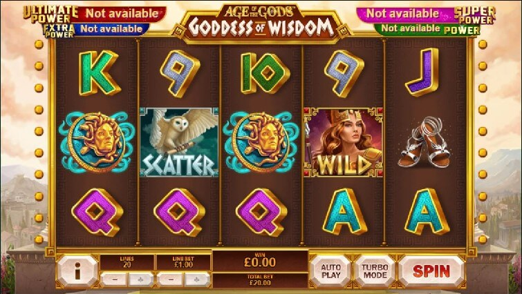 Das Age of the Gods Gooddess of Widsom Automatenspiel