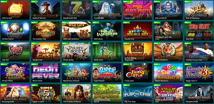 Mehrere Luckland Casino Slots