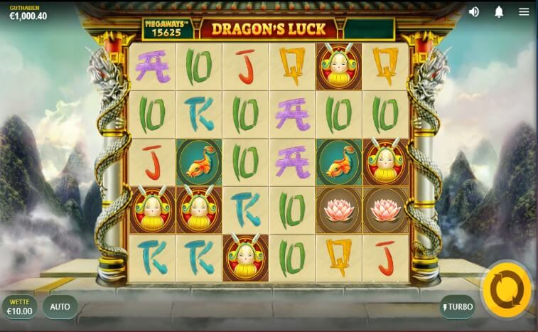 Das Dragon`s Luck Megaways Slotspiel