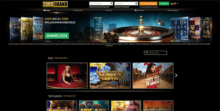 Eurogrand Casino Mobile