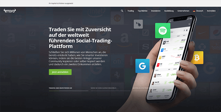 etoro Plattform Screenshot neu