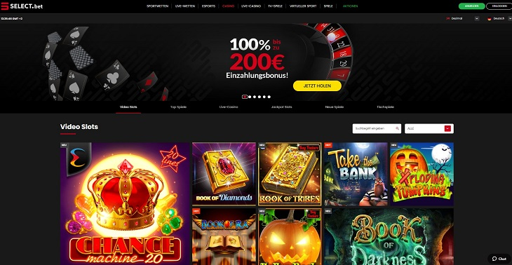 Die Select.bet Casino Plattform